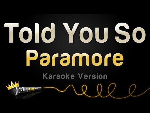 Paramore - Told You So (Karaoke Version)