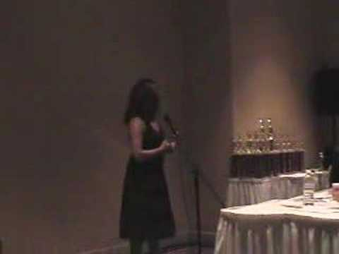 Camelia singing for AFNA competition. performance of opera,classical, ...
