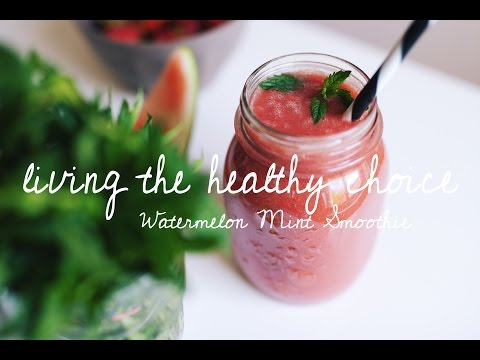 Watermelon Mint Smoothie | Living The Healthy Choice
