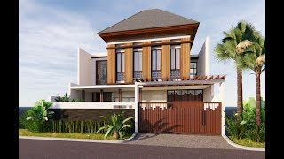 Sketchup House Design 6 EXT INT + Enscape 2.4 Realtime Rendering