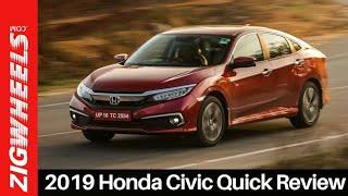 2019 Honda Civic Review | Is Honda's Hero Back? | ZigWheels.com