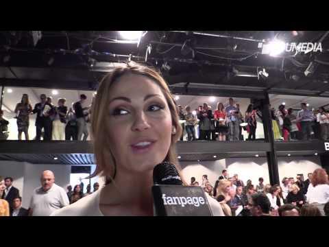 Anna Tatangelo Intervista alla sfilata Krizia