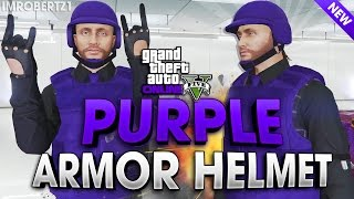 GTA 5 Online - Purple Body Armor Purple Bulletproof Helmet Glitches Modded Clothing (GTA 5 Glitches)