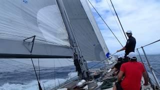 J-Class Rainbow sailing at St Barths Bucket 2014