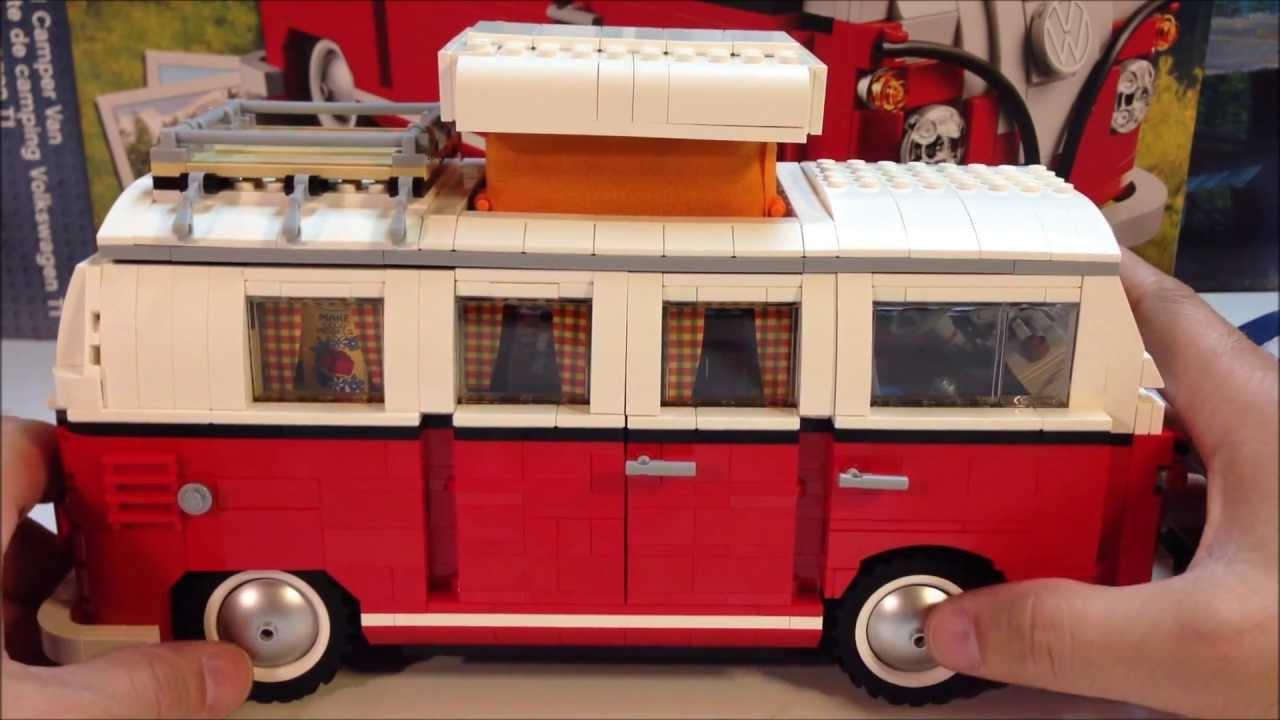 lego 10220 volkswagen t1 camper van 1960 39 s vw bus youtube. Black Bedroom Furniture Sets. Home Design Ideas