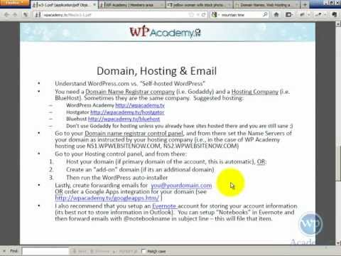 0 Using a Separate Domain Registrar and Web Hosting Company