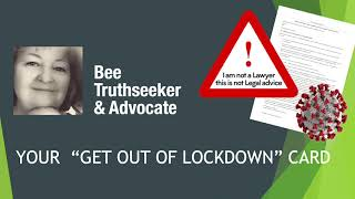 Video: Get Out of COVID Lockdown Card, relying on Common Law/Magna Carta - Mick Coulter