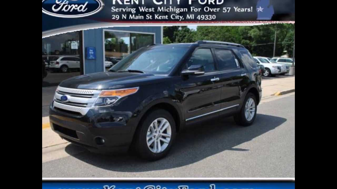 Black Ford Explorer >> 2014 Ford Explorer XLT -- Tuxedo Black Metallic -- $36,065 - YouTube