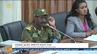 Ethiopia millitary on current issue