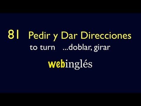 81 - Pedir y Dar Direcciones en Ingles
