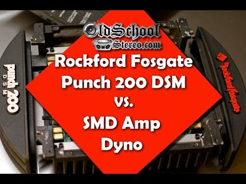 SMD AD-1 Amp Dyno vs. Rockford Fosgate Punch 200 DSM FULL Test