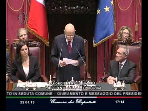 Roma - Il Giuramento e il Messaggio di Giorgio Napolitano (22.04.13)