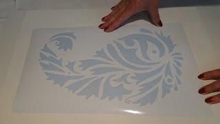 Мастер класс Барельеф орнамента по трафарету часть 1(2) *Необычный декор стен своими руками*
