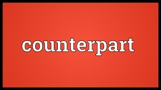 Counterpart Meaning