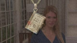 14K Gold Movable Bible Pendant on QVC
