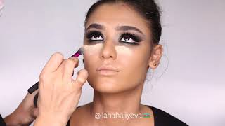 Green shade divided make-up from Ilaha Hajiyeva