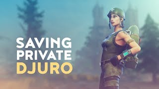 KID CELEBRATES WIN WITH HIS MOM! - SAVING PRIVATE DJURO (Fortnite Battle Royale)