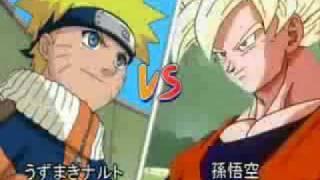 GOKU VS NARUTO | BATALLA BRUTAL O.o- xD