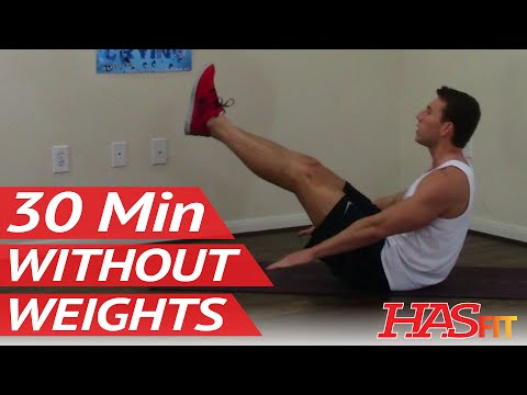 30 Min Workout without Weights - HASfit Exercises without Weights - Work Out without Equipment