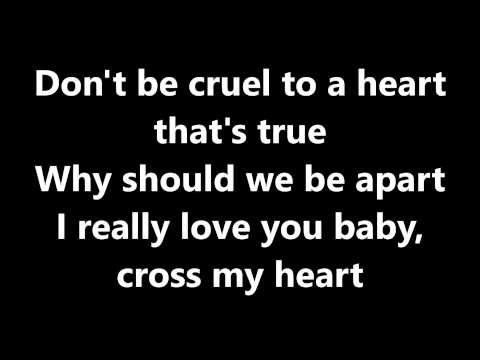 Lyrics~Don't be cruel-Elvis Presley