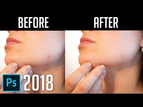 How to Remove Acne, Wrinkles, Scars | Photoshop CC 2018 Tutorial
