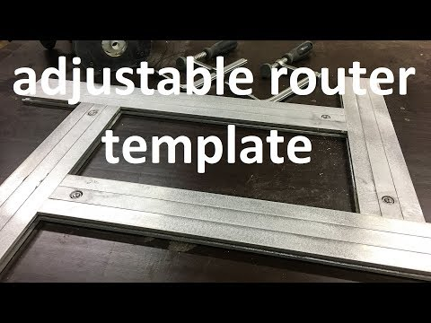 diy router template - how to make adjustable routing template