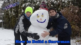 How to Build a Snowman | Frozen Snowman | Merry Christmas and Happy Holidays
