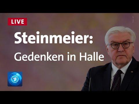 Gedenken in Halle BundesprГsident Steinmeier zum Jahrestag des Anschlags