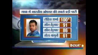 Download India vs Aus, 2nd ODI: Rohit Sharma Hits 2nd Century (124 off 121 Balls) of the ODI Series 3Gp Mp4