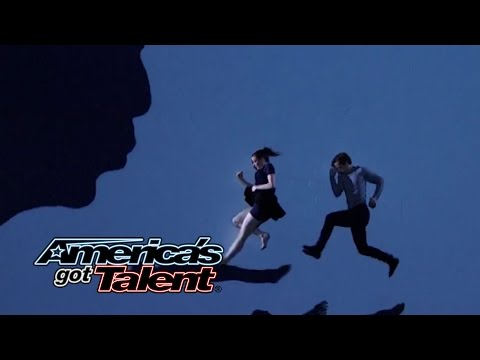 Blue Journey: Duo Performs Multimedia Visual Dance - America's Got Talent 2014