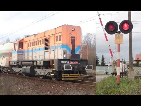 3 pociągi towarowe 181 088-6, ET41-037 oraz T448p-093 Przejazd Kolejowy w Krzeszowicach