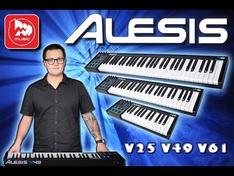 ALESIS V25, ALESIS V49 и ALESIS V61 - миди клавиатуры