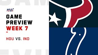 Houston Texans vs. Indianapolis Colts Week 7 NFL Game Preview