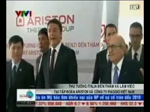 Ariston - Italian Prime Minister Matteo Renzi visits Ariston Thermo Vietnam - Business News - VTV1