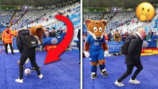 FOOTBALL MASCOT MUGS ME OFF IN FRONT OF 30,000 PEOPLE!