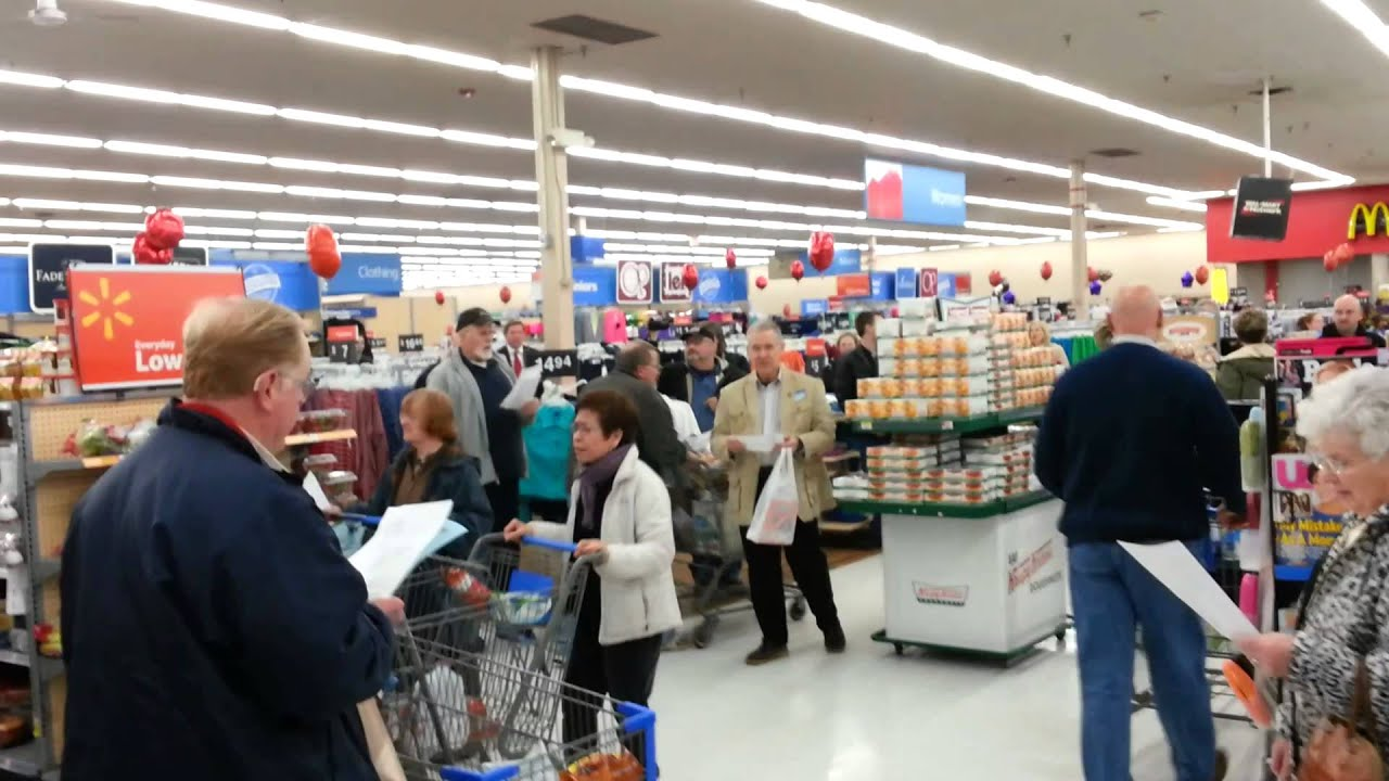 Day of resistance flash mob westminster md wal mart youtube for Fishing license md walmart