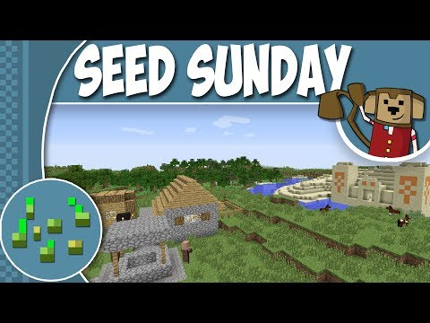 Minecraft Seed Sunday MC 1.7.10 - Ep96 -  Village, Temple, Horses & MORE ! !