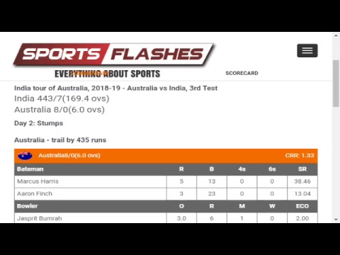 Live: Australia Vs India 3rd Test Day 2 #Cricket Match Commentary from Stadium | #SportsFlashes