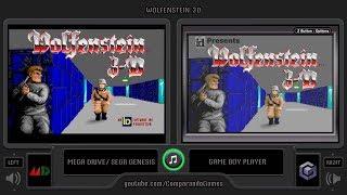 Wolfenstein 3D (Sega Genesis vs GBA) Side by Side Comparison