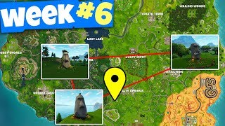 """""""Search where the Stone Heads are looking"""" - Fortnite WEEK 6 Challenges Guide"""