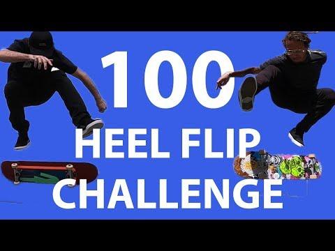 Mikemo and Neen Williams 100 Heel Flip Challenge
