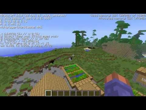 11] Amazing Extreme hills biome, npc village Minecraft seed 1.5.2