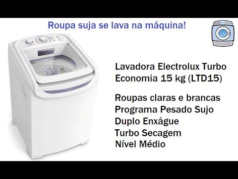 Lavadora Electrolux Turbo Economia 15 kg (LTD15) - Programa Pesado Sujo