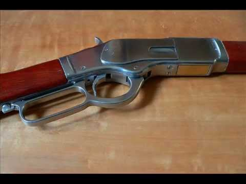 Winchester 1873 rifle homemade replica (non-firing).wmv