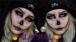 Easy & Glam Skull Halloween Makeup Tutorial   Jenna Danielle Beauty