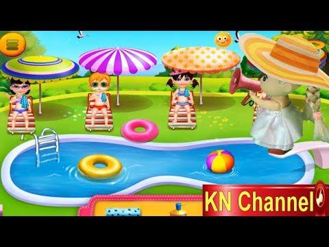 Trò chơi KN Channel BÚP BÊ TẬP LÀM QUẢN LÝ HỒ BƠI | TRÒ CHƠI CẢM GIÁC MẠNH DƯỚI NƯỚC VUI NHỘN