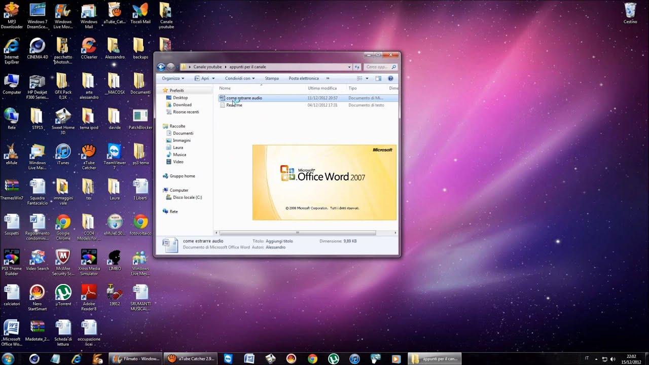 Tutorial windows 7| Come editare e estrarre l'audio da un video ...