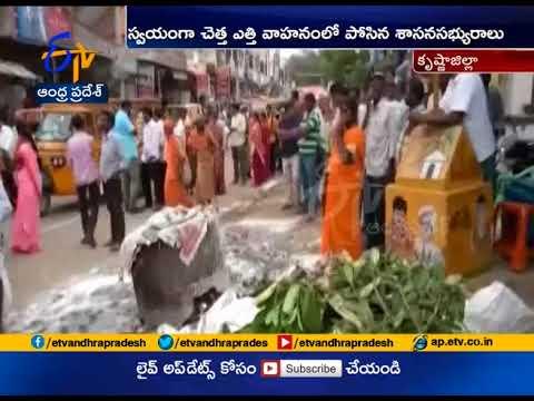 Nandigama MLA Tangirala Sowmya clean roads | Swachh Bharat