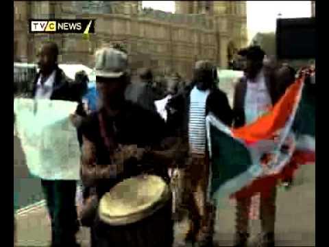 Protesters decry Burundi Human Rights Violations