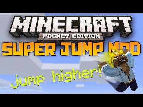 SUPER JUMP MOD! - Jump Higher in Minecraft Pocket Edition